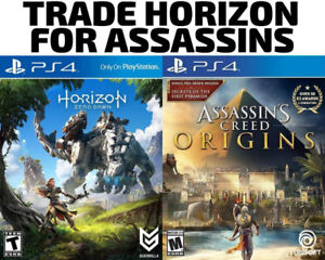 TRADE PS4 Horizon Zero Dawn for Assassins Creed Origins / others