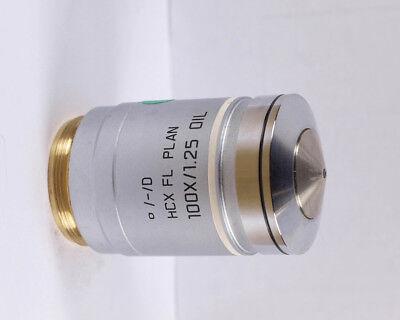 Leica Hcx Fl Plan 100x Oil Infinitym25 Microscope Objective