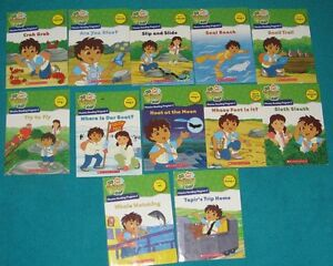 Diego EDUCATIONAL Phonics Books 1-10 & 2 workbooks & set 2