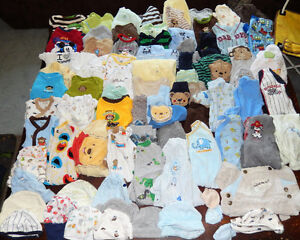 HUGE lot of 82 items - baby BOY clothes - NEWBORN