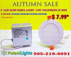 RECESSED POTLIGHT 4 INCH SLIM PANEL ROUND $7.99