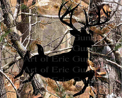 Deer Hunting Camo Birthday ~ Frosting Sheet Cake Topper ~ Edible ~ D22143 - Camo Birthday Cake