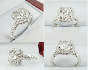 2.20ct Diamond Engagement Ring 18k White Gold