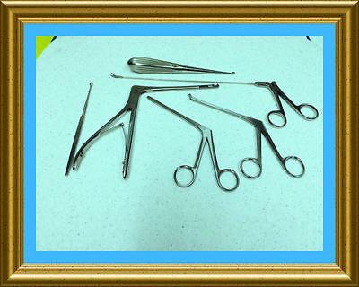 New 6 Pc Arthroscopic Sinoscopy Rhinoscopy Instruments Set Stainless Steel