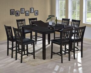 Austin completely SOLID hardwood counter table with 6 chairs,NEW