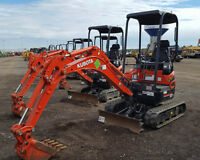 MINI EXCAVATORS AVAILABLE FOR RENT - LOWEST PRICES!