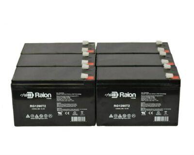 Raion Power 12V 9Ah SLA AGM Best SLA1290 Battery - 6 Pack