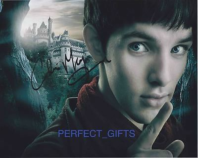 COLIN MORGAN MERLIN SIGNED 10X8 PP PHOTO
