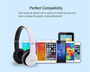 great sounding foldable bluetooth headphones 100% NEW