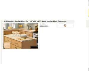 Bucther Block Counter Top
