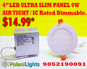 LED ULTRA SLIM PANELS DIMMABLE.