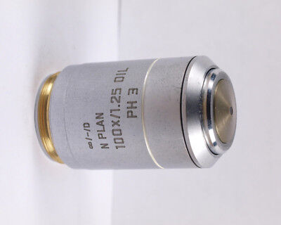 Leica N Plan 100x 1.25 Oil Ph3 Phase Contrast Infinity Microscope Objective