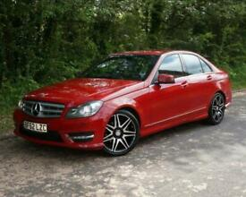 image for 2012(62) MERCEDES C220 CDI BLUEEFFICIENCY AMG SPORT PLUS SALOON AUTOMATIC RED