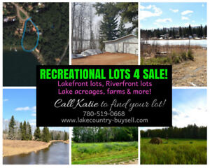 RECREATIONAL LOTS FOR SALE - SKELETON LAKE call 780-519-0668