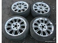 "BMW E46 E90 E36 MV2 Alloy Wheels 18"" Need refurbished Diff Drift"
