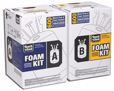 Spray Insulation Foam (Touch 'n Seal U2-600 Spray Closed Cell Foam Insulation Kit 600BF - Standard)
