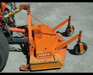 kubota 48 inch finish bush mower