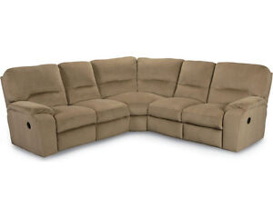 Almost Brand New  L - Shape 4 piece sectional e/w 3 recliners