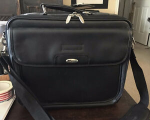 "Targus 15"" Black Leather Laptop Bag, Never Used"