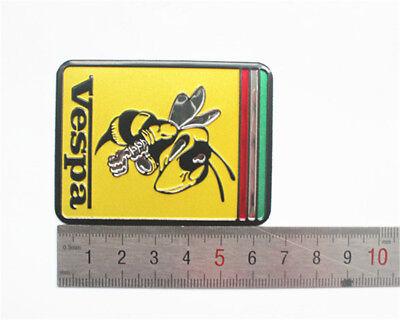 brass chromed VESPA 3D STICKER Emblem Stickers Decal Vespa WITH angry bee vespa