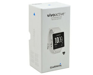 Garmin Vivoactive gps watch with heart rate monitor - White