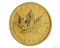 1/4 Oz Gold Maple Leafs .9999 Sealed