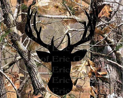 Deer Hunting Camo Birthday ~ Frosting Sheet Cake Topper ~ Edible ~ D22134 - Camo Birthday Cake