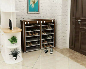 Double Rows 6-Tier Space-saving Shoe Case Cabinet (Brand New)