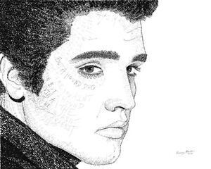 Elvis Presley Word Art - Large Print
