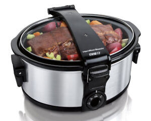 Hamilton Beach 33461C 6-Quart Slow Cooker, Stainless Steel