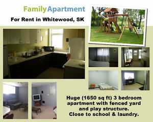 Huge 3BR Apartment & Fenced Yard for rent in Whitewood, SK Regina Regina Area image 1