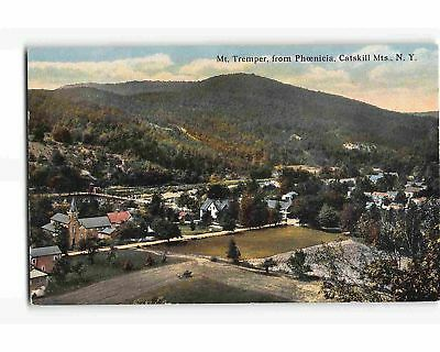 ST2115: BIRD'S EYE VIEW PHOENICIA Ulster C. NY (C1912 postcard)