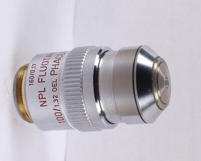 Leitz Npl Fluotar 100x Oil Phaco 2 Rk - Reflection Kontrast Microscope Objective
