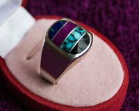 SOUTHWEST STERLING SILVER RING - SIZE 10.5