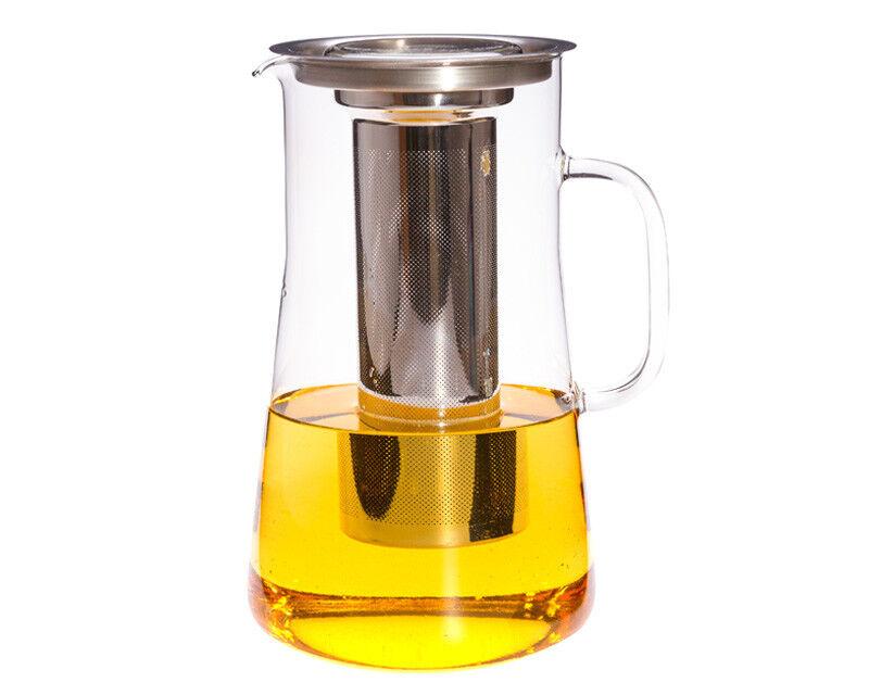 Teekanne Teekrug Glaskrug Hudson Trendglas Jena 2,5 L mit Teefilter