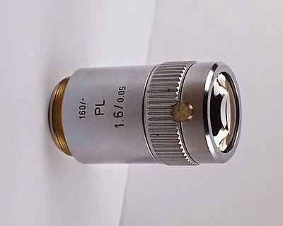 Leitz Pl 1.6x 0.05 160mm Tl Microscope Objective