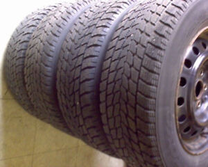 """15"""" Toyo Winter Tires Steel Rims Great Bargain Great Condition"""
