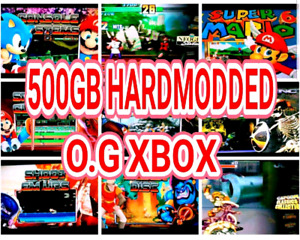 ☆ 500GB MODDED XBOX ☆ 37 Different Systems ☆ 80XBOX GAMES
