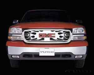 Beautiful stainless steel GMC grill insert
