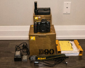 Nikon D90 with Grip MB-D80 & Pocketwizard Pre-Trigger Cable