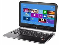 "HP PAVILION TS 11 NOTEBOOK PC AMD A4 4GB RAM 128GB SSD 11.1"" Touch Screen Windows 10"