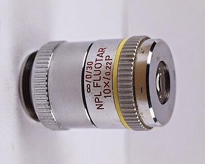 Leitz Npl Fluotar 10x .22 P Infinity Pol Strain Free Microscope Objective