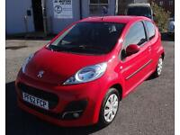 2013 (62) Peugeot 107 1.0 12v (68bhp) Active Red