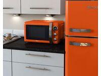 Swan 800W Retro Digital Microwave Red/Cream/Blue/Black/Green BRAND NEW