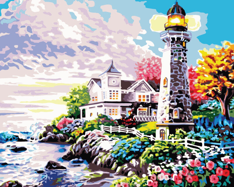 DIY Acrylic Buildings Boats Paint By Number Kit Oil Painting Art Wall Home Decor