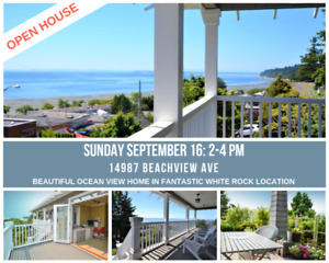 OPEN HOUSE: Beautiful Ocean View Home in Sunny White Rock