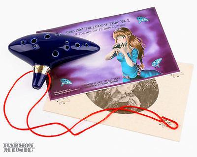 Legend of Zelda Ocarina Of Time 12 Hole Ocarina with 2 Songbooks!