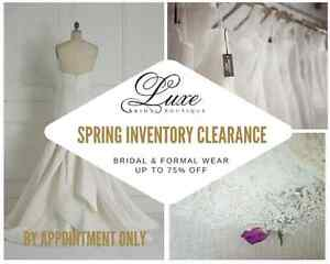 Wedding Gown & Formal Wear Inventory Blow-Out Sale