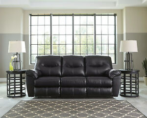 Brand New!! Black Leather Reclining Sofa