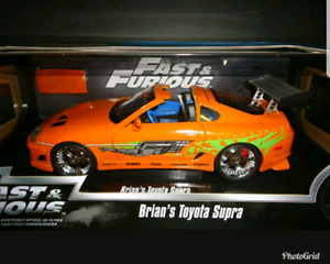 NEW 1/18 Toyota Supra from Fast and Furious Paul Walker